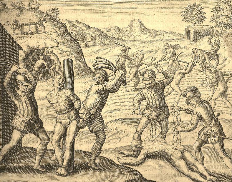 Las Casas de Bry Black Legend atrocity